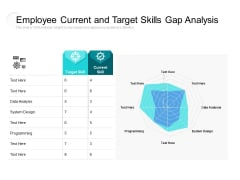Employee Current And Target Skills Gap Analysis Ppt PowerPoint Presentation Layouts Graphics Download