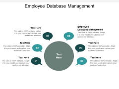Employee Database Management Ppt PowerPoint Presentation Ideas Outfit Cpb