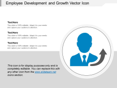 Employee Development And Growth Vector Icon Ppt PowerPoint Presentation Summary Background Images PDF