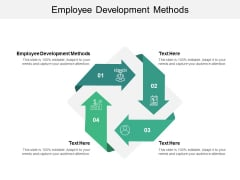 Employee Development Methods Ppt PowerPoint Presentation Gallery Designs Download Cpb