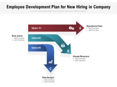 Employee Development Plan For New Hiring In Company Ppt PowerPoint Presentation Gallery Graphic Tips PDF