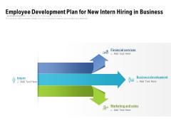 Employee Development Plan For New Intern Hiring In Business Ppt PowerPoint Presentation File Styles PDF