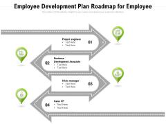 Employee Development Plan Roadmap For Employee Ppt PowerPoint Presentation File Pictures PDF