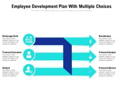 Employee Development Plan With Multiple Choices Ppt PowerPoint Presentation Gallery Templates PDF