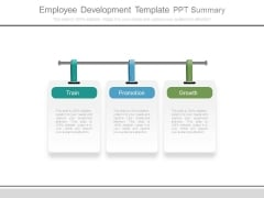 Employee Development Template Ppt Summary