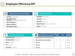 Employee Efficiency KPI Ppt PowerPoint Presentation File Ideas