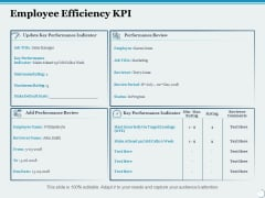 Employee Efficiency Kpi Ppt PowerPoint Presentation Summary Outline