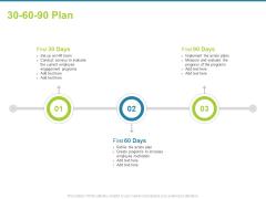Employee Engagement Activities Company Success 30 60 90 Plan Ppt Professional Brochure PDF