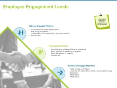 Employee Engagement Activities Company Success Employee Engagement Levels Ppt Gallery Master Slide PDF