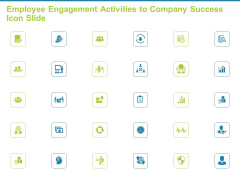 Employee Engagement Activities To Company Success Icon Slide Ppt Professional Graphics Example PDF