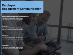 Employee Engagement Communication Ppt Powerpoint Presentation Inspiration Graphics Download Cpb
