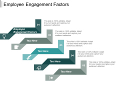 Employee Engagement Factors Ppt PowerPoint Presentation Pictures Background Cpb
