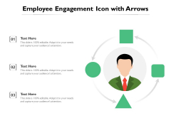 Employee Engagement Icon With Arrows Ppt PowerPoint Presentation File Background PDF