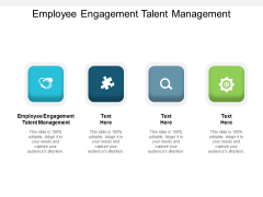 Employee Engagement Talent Management Ppt PowerPoint Presentation Gallery Slides
