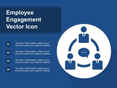 Employee Engagement Vector Icon Ppt Powerpoint Presentation File Model