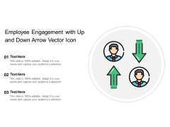 Employee Engagement With Up And Down Arrow Vector Icon Ppt PowerPoint Presentation Infographic Template Clipart Images PDF