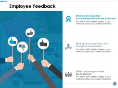 Employee Feedback Ppt PowerPoint Presentation Infographics Information