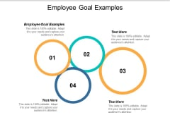 Employee Goal Examples Ppt PowerPoint Presentation Show Example Introduction Cpb