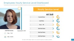 Employee Grievance Handling Process Employees Hourly Service Level Dashboard Sample PDF