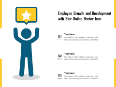 Employee Growth And Development With Star Rating Vector Icon Ppt PowerPoint Presentation Gallery Design Ideas PDF