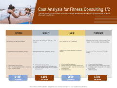 Employee Health And Fitness Program Cost Analysis For Fitness Consulting Gold Professional PDF