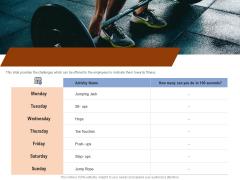 Employee Health And Fitness Program Daily Employee Wellness Activities Template PDF