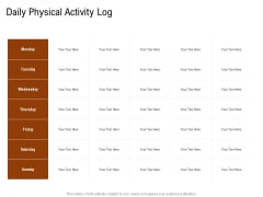 Employee Health And Fitness Program Daily Physical Activity Log Portrait PDF