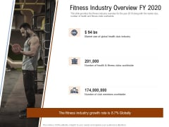 Employee Health And Fitness Program Fitness Industry Overview FY 2020 Designs PDF