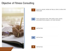 Employee Health And Fitness Program Objective Of Fitness Consulting Summary PDF