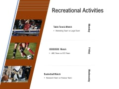Employee Health And Fitness Program Recreational Activities Brochure PDF