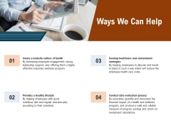 Employee Health And Fitness Program Ways We Can Help Rules PDF