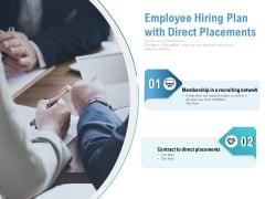 Employee Hiring Plan With Direct Placements Ppt PowerPoint Presentation Pictures Examples