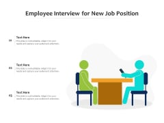 Employee Interview For New Job Position Ppt PowerPoint Presentation File Infographics PDF
