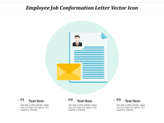 Employee Job Conformation Letter Vector Icon Ppt PowerPoint Presentation Inspiration Elements PDF