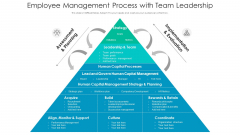 Employee Management Process With Team Leadership Ppt Gallery Slide Portrait PDF