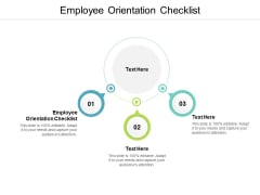 Employee Orientation Checklist Ppt PowerPoint Presentation Ideas Infographics Cpb