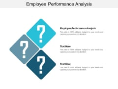 Employee Performance Analysis Ppt PowerPoint Presentation Slides Structure Cpb