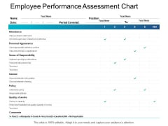 Employee Performance Assessment Chart Responsibility Ppt PowerPoint Presentation Pictures Master Slide