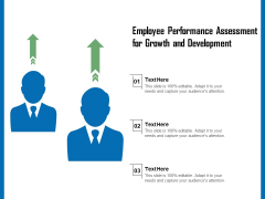 Employee Performance Assessment For Growth And Development Ppt PowerPoint Presentation File Slides PDF