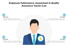 Employee Performance Assessment In Quality Assurance Vector Icon Ppt PowerPoint Presentation File Icon PDF