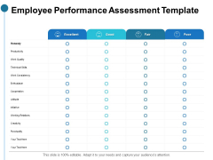 Employee Performance Assessment Template Ppt PowerPoint Presentation Infographics Graphics Download