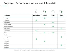 Employee Performance Assessment Template Technical Skills Ppt PowerPoint Presentation Pictures Slide Download