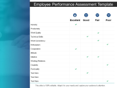 Employee Performance Assessment Template Technical Skills Ppt PowerPoint Presentation Professional Design Templates