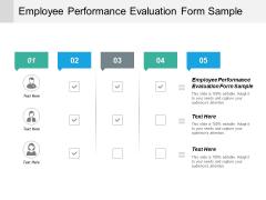 Employee Performance Evaluation Form Sample Ppt PowerPoint Presentation Portfolio Example Cpb