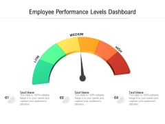 Employee Performance Levels Dashboard Ppt PowerPoint Presentation Slides Design Templates PDF
