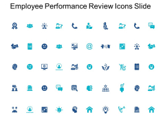 Employee Performance Review Icons Slide Pillars Ppt PowerPoint Presentation Layouts Show