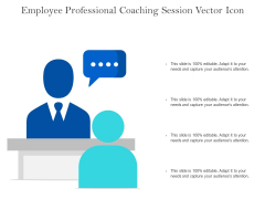 Employee Professional Coaching Session Vector Icon Ppt PowerPoint Presentation Infographic Template Introduction PDF