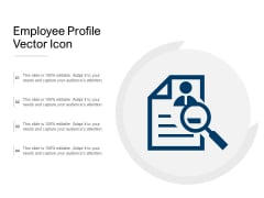 Employee Profile Vector Icon Ppt PowerPoint Presentation Professional Aids