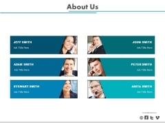 Employee Profiles For About Us Slide Powerpoint Slides