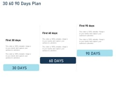 Employee Recognition Award 30 60 90 Days Plan Ppt PowerPoint Presentation Gallery Images PDF